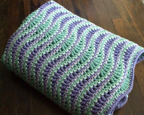 Atlantic Waves Ripple Blanket - Free Pattern