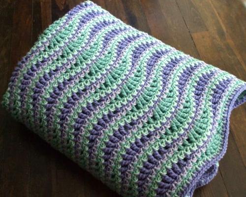 Crochet For Children Atlantic Waves Ripple Blanket Free Pattern