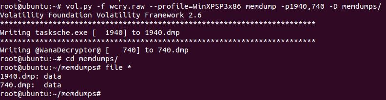 Memory Analysis of WannaCry Ransomware