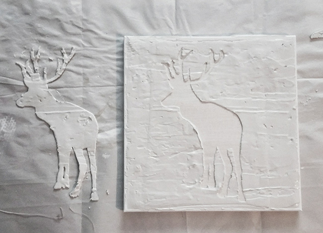 Step by Step Easy DIY Deer Art | Free Template | Cheap | Wall art | Home decor | $100 Room Challenge Deer