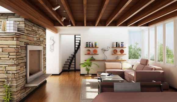 Living Room with Contemporary and Traditional Combination by Olcay Saymar Inspirasi+Ruang+Tamu+Minimalis+Modern
