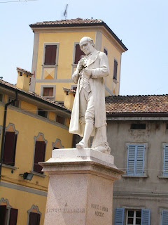 The monument to Lazzaro Spallanzani in his home town of Scandiano