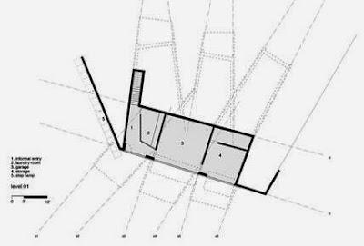 Plano de arquitectura de la planta inferior