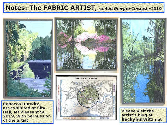 textile art; landscapes; South Carolina