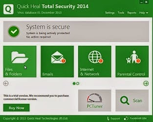 Download Quick Heal Total Security 2014 v15.00 (8.0.0.1) [Offline Installer Direct Link 32Bit 64Bit]