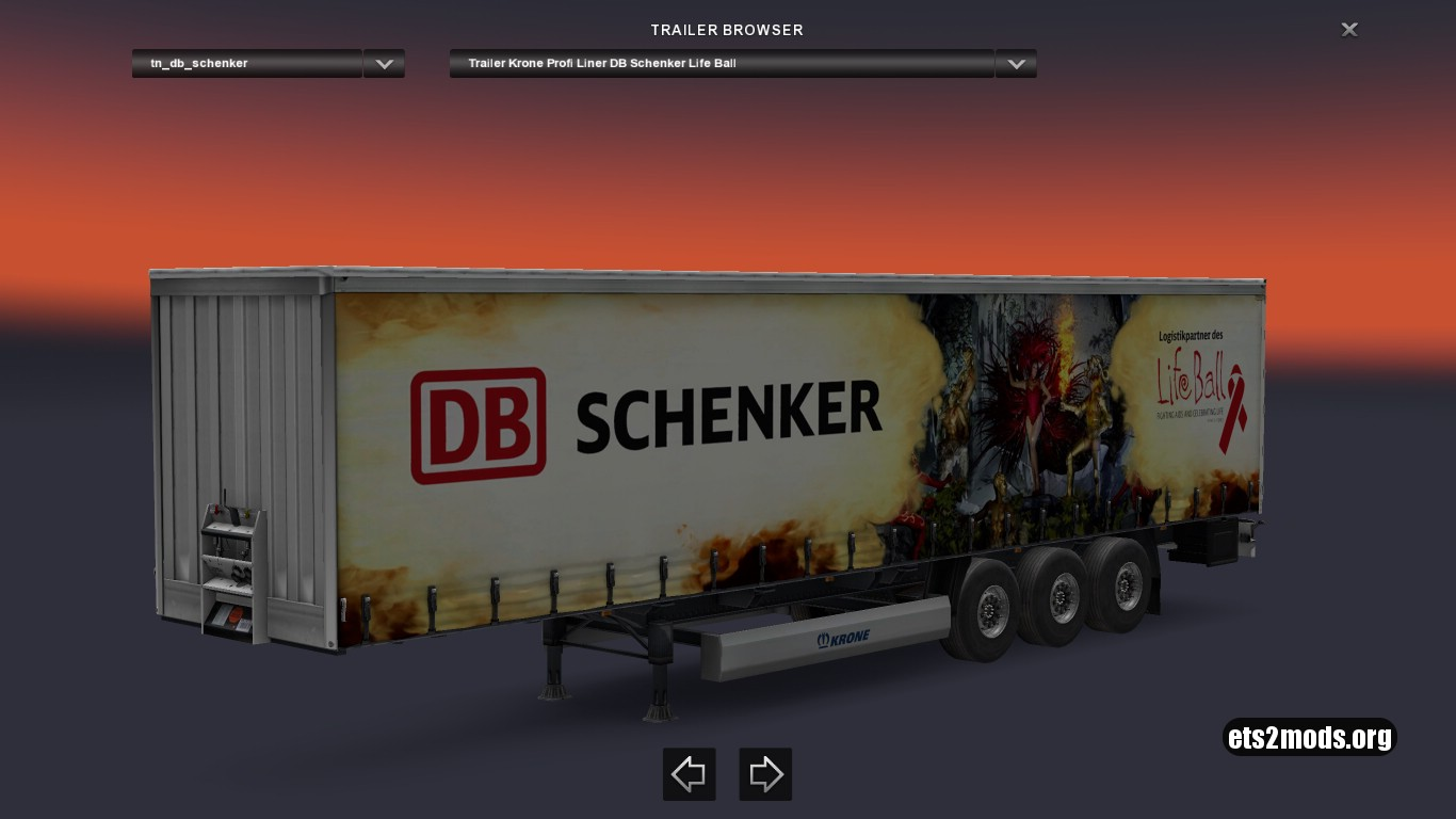 Krone DB Schenker Life Ball Trailer
