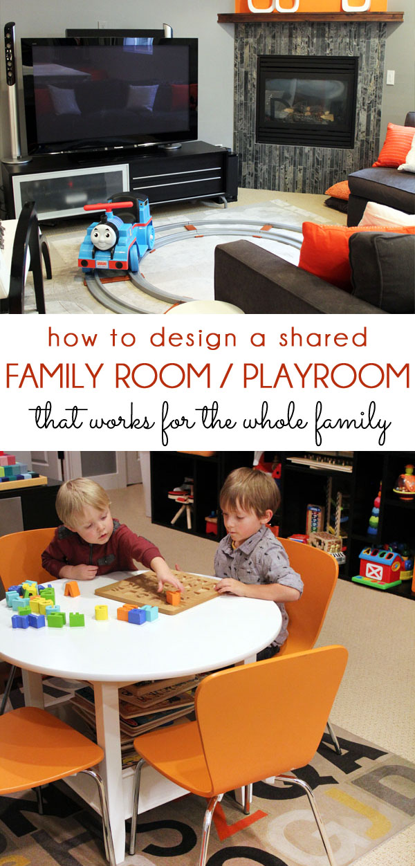 Shared family room and playroom tips