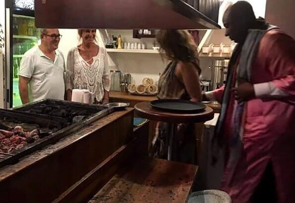 "Princess Martha Louise and Shaman Durek dined at ""Neyzar"" restaurant at Milta Marina. Rebis Hotel in Bodrum"