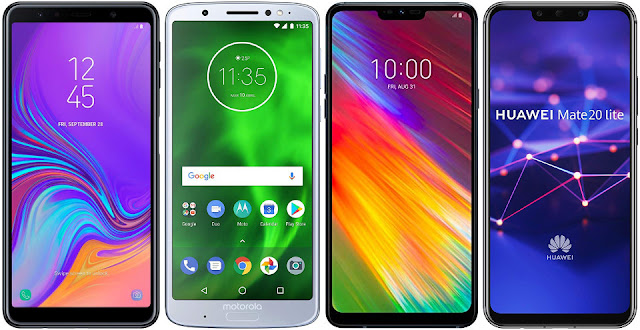 Samsung Galaxy A7 (2018) vs Motorola Moto G6 Plus vs LG G7 Fit vs Huawei Mate 20 Lite