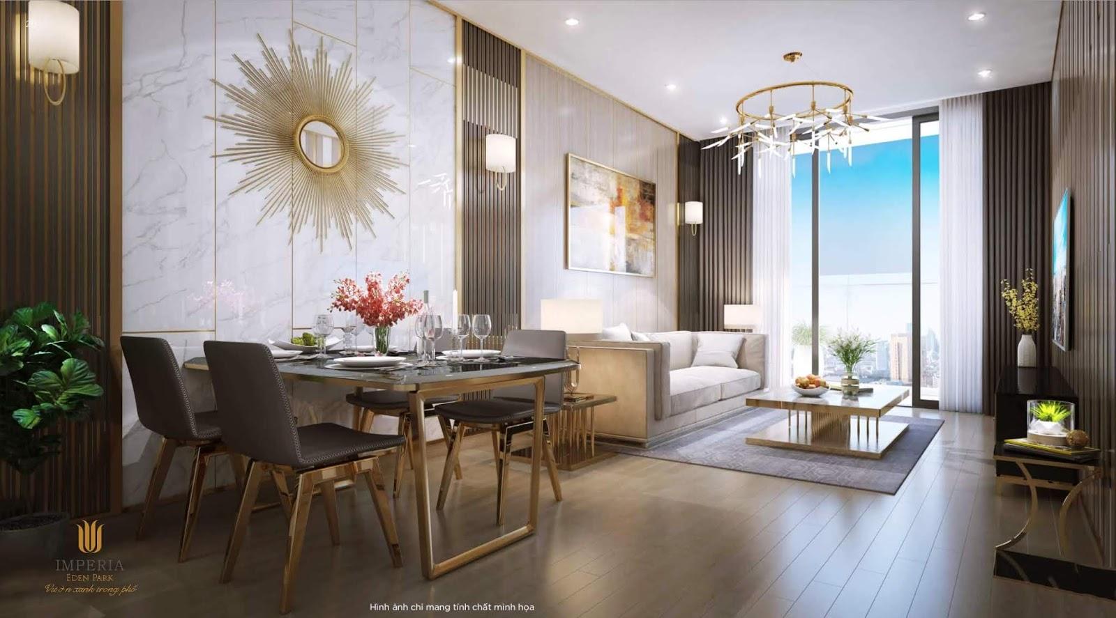 Thiết kế căn hộ cao cấp chung cư Imperia Mễ Trì