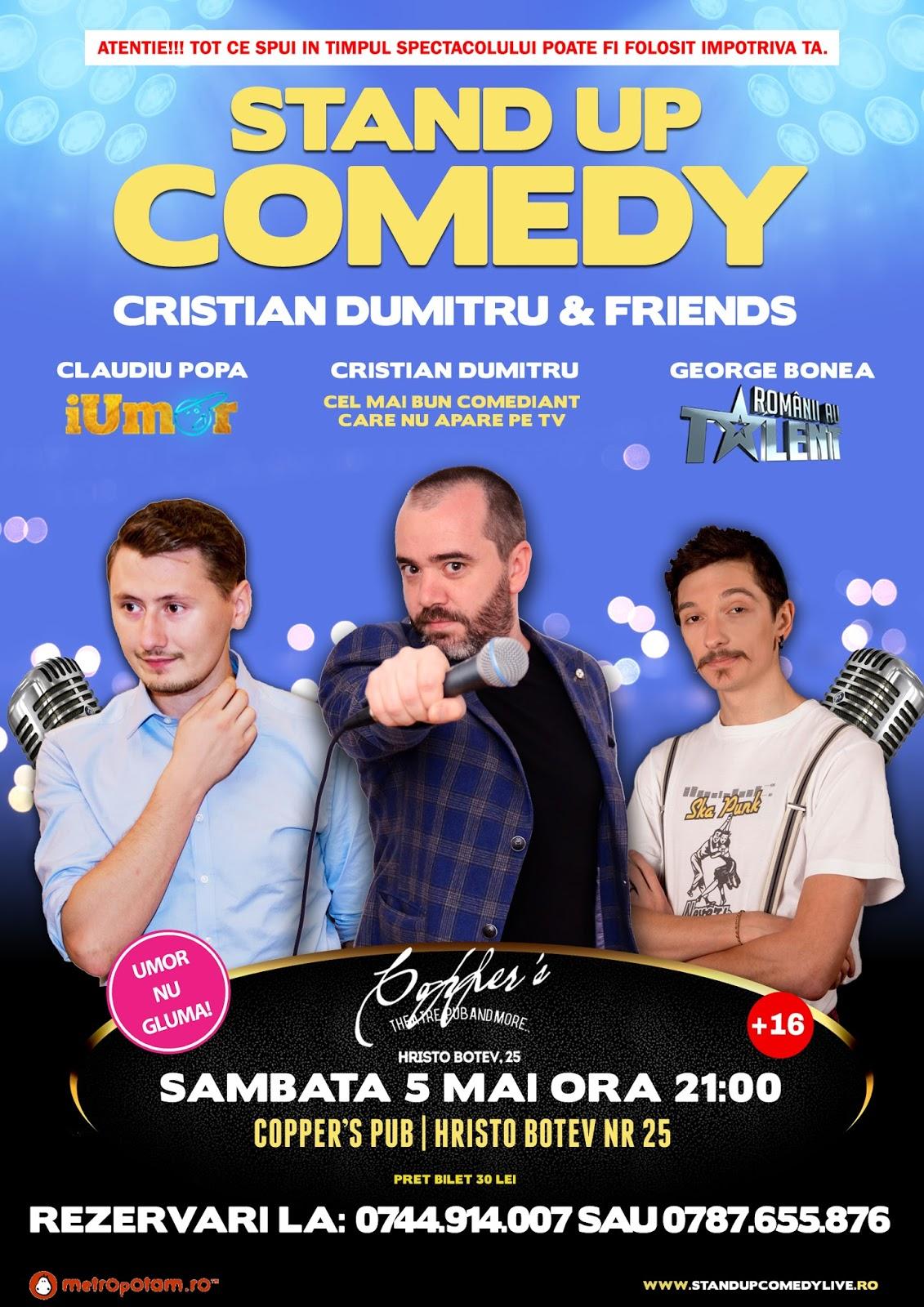 Stand-Up Comedy Bucuresti Sambata 5 Mai