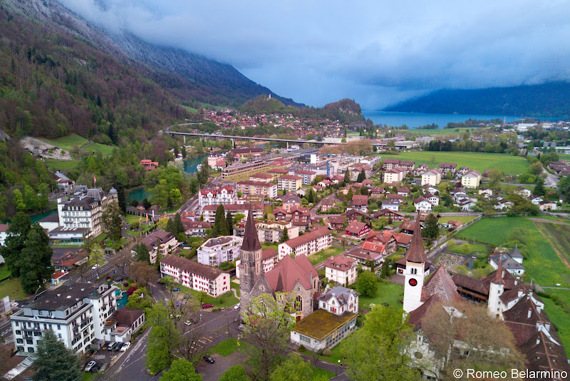 Interlaken Drone Aerial View Four Days in Interlaken and the Swiss Alps