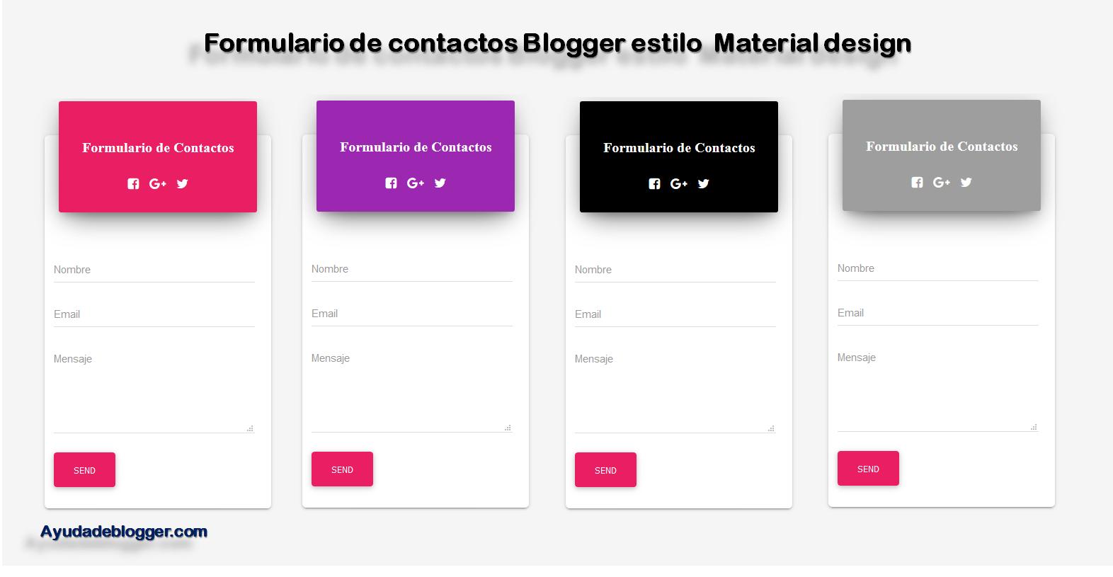 Formulario de contactos para Blogger