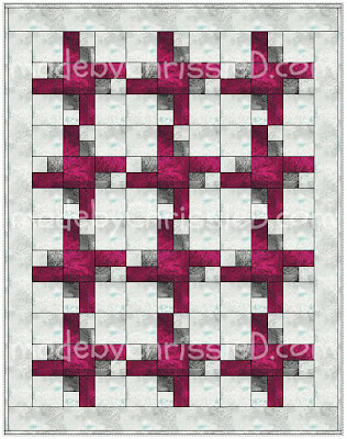 Trapped Square Quilt Pattern from www.madebyChrissieD.com