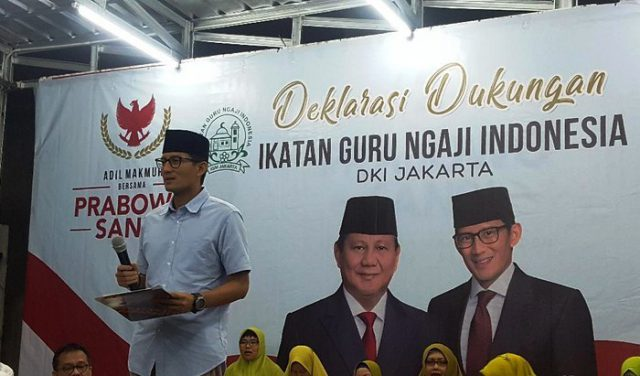 Guru Ngaji se-DKI Dukung Prabowo-Sandi