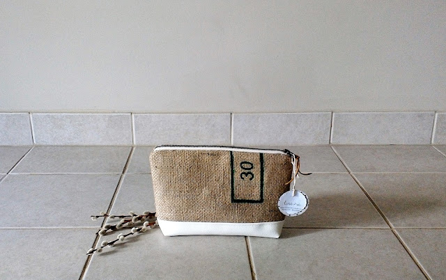 Burlap Zipper Cases by Lina and Vi Plymouth Michigan - linaandvi.etsy.com