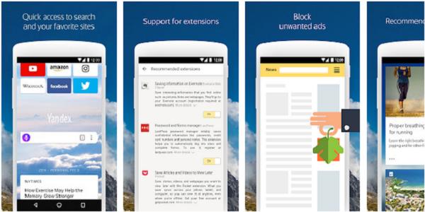 Aplikasi Yandex Browser