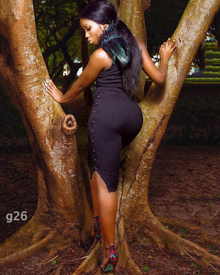 #BBNaija's Bambam shows off bum