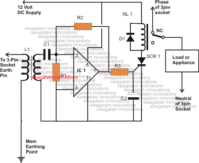 mains earthing circuit breaker using SCR switch