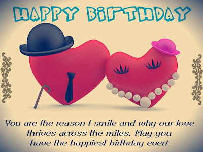Happy Birthday wishes quotes for wife: you are the reason i smile