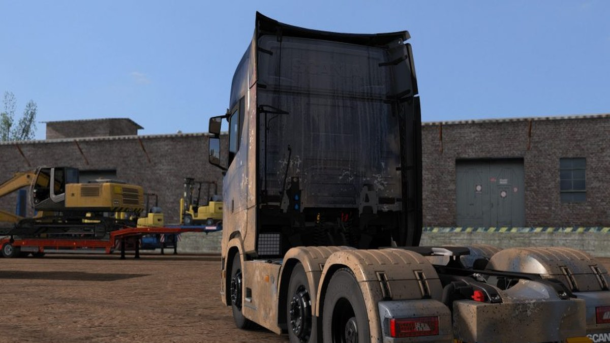 Dirty High Roof Skin for Scania S