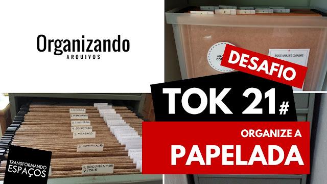 Organize a papelada! - Tok 21 | Desafio 52 toks de organização e decor