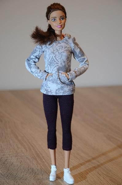 Sport clothes for Barbie dolls.