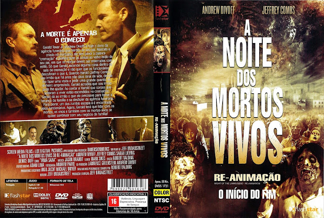 Capa DVD A Noite dos Mortos Vivos Re-Animação