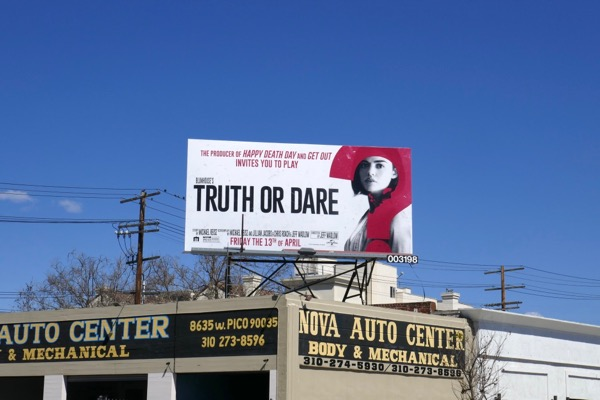 Truth or Dare movie billboard