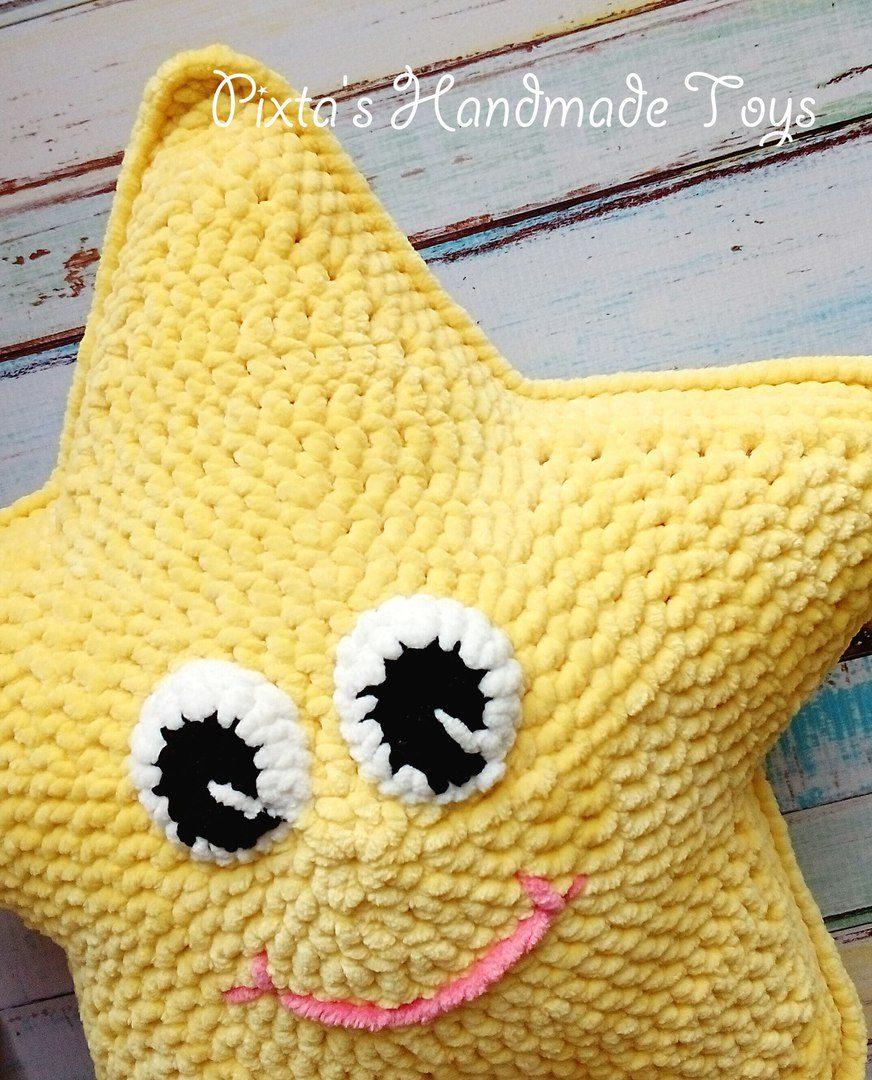 вязаная звезда подушка крючком Hi Amigurumi