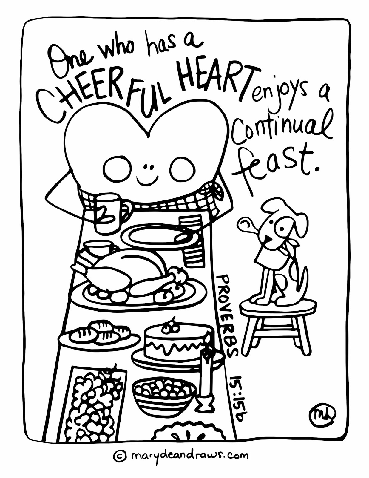 Cheerful heart, continual feast + FREE Thanksgiving ...