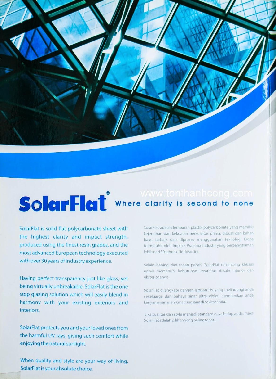Catalogue Tấm Lấy Sáng Polycarbonate Đặc Ruột SolarFlat - Trang 4