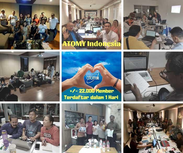 Posting Masal Team Atomy Indonesia – Sejarah Baru 22.000 Member Terposting dalam 1 Hari
