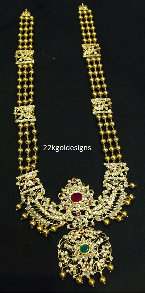 Traditional Gold long Necklace