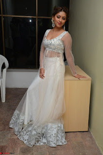 Anu Emmanuel in a Transparent White Choli Cream Ghagra Stunning Pics 005.JPG