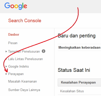 Mengirimkan Peta Situs ke Webmaster