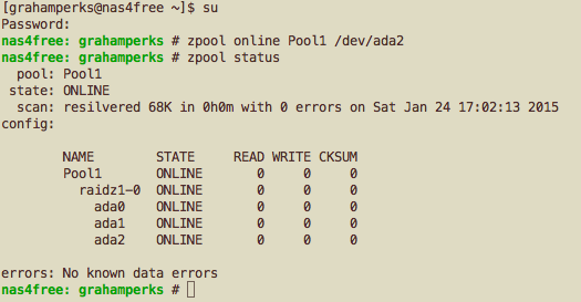 Experimenting with ZFS Failures – ZFS NAS