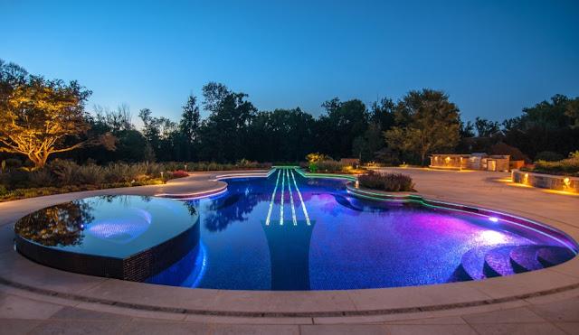 Futuristic Light Swimming Pool Builders