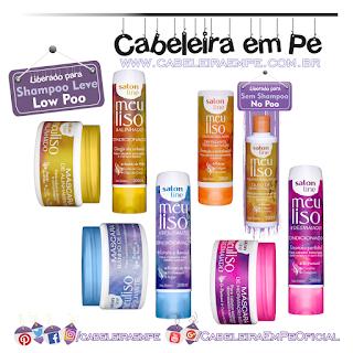 Produtos liberados linha Meu Liso - Salon Line - Liberados para Low Poo (Condicionadores Alinhado, Desmaiado, Alisado e Brilhante)