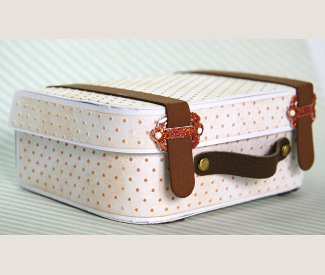 mini album a forma di valigia