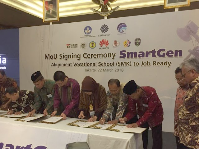 12 SMK Jalin Kerjasama dengan Huawei Indonesia
