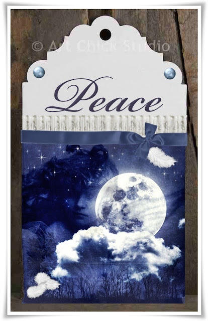Peace Angel Hangtag Art