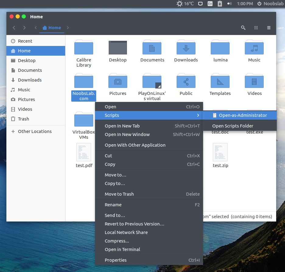Linux mint open as root