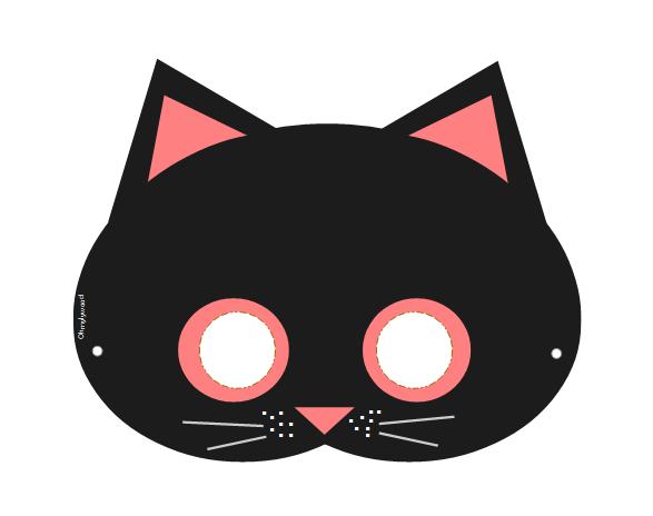 Masque Halloween à imprimer et télécharger gratuit Free chat
