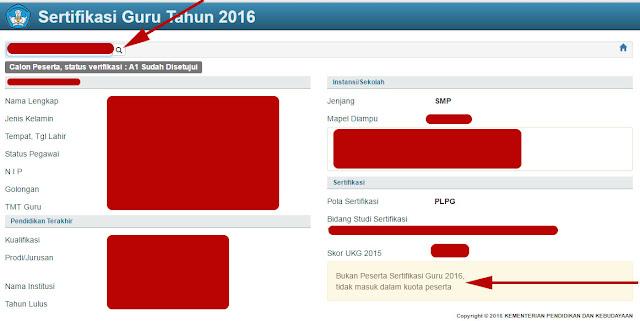 Link Cek Data Calon Peserta Sergur 2016 Pola Plpg Dan Portofolio Blog Om Jhon