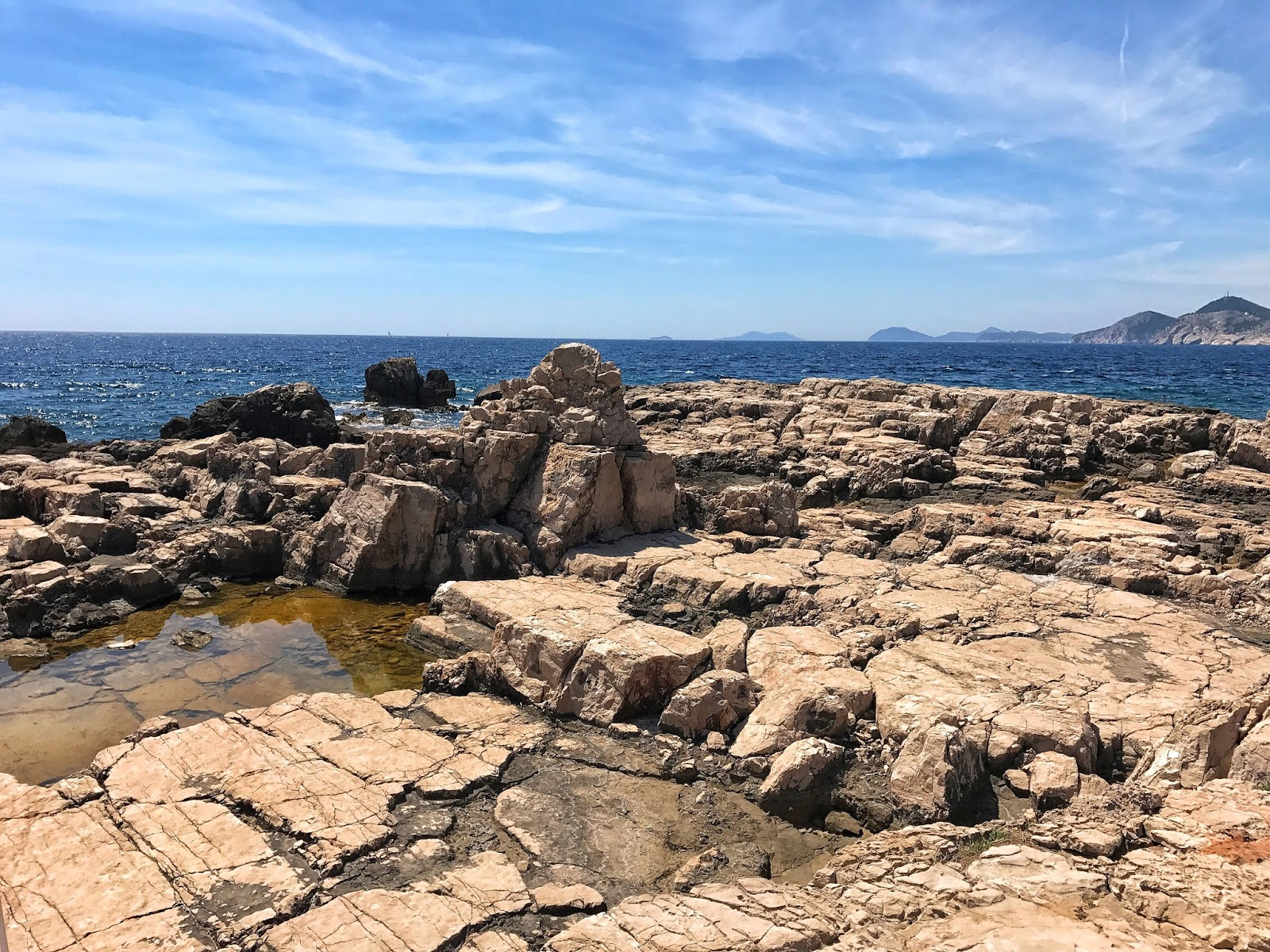 rocky landscape of Lokrum island Croatia