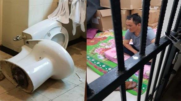Andi Arief Diciduk, Ini Dugaan Penyebab Kloset Toilet Sampai Terbalik