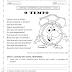 Atividade de leitura e interpretação de texto para imprimir - 2º ano -  O tempo
