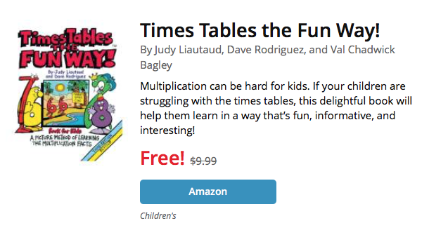 UCET Free Kindle Book Today - Times Tables the Fun Way! - UCET
