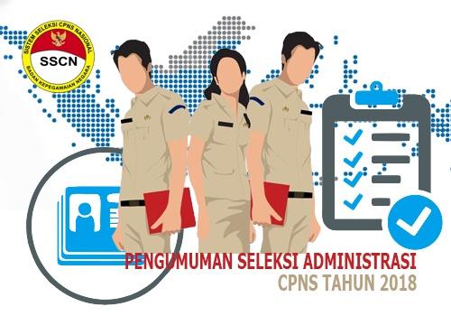 Pengumuman Kelulusan Seleksi Administrasi CPNS 2018